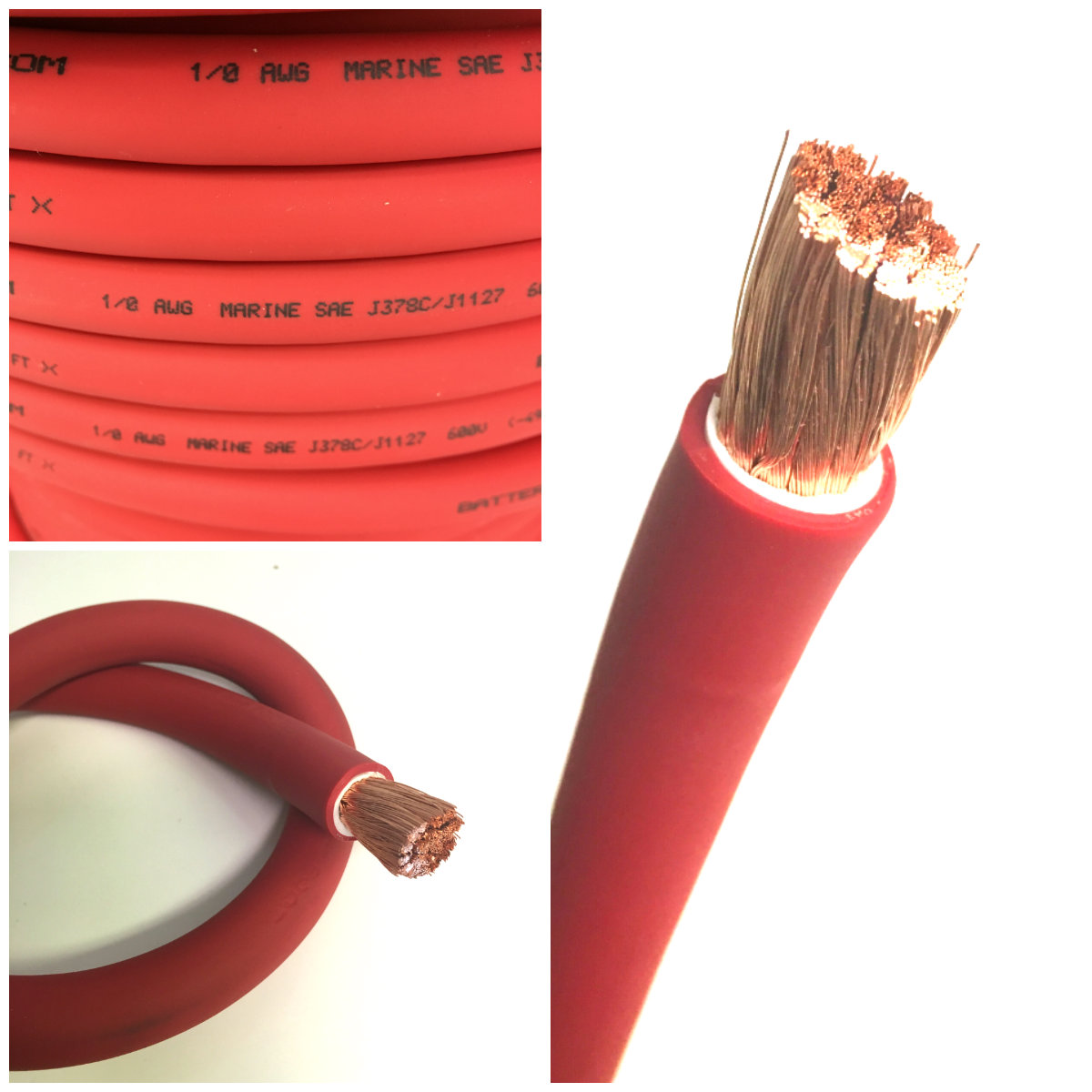 4 Gauge Awg Battery Cable Red By The Foot Tap To Expand