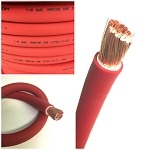 4 Gauge AWG Battery Cable Red - By the Foot