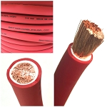 2/0 Gauge 00 AWG Battery Cable Red - By the Foot