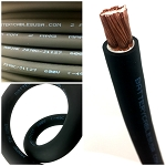 2 Gauge AWG Battery Cable Black - By the Foot