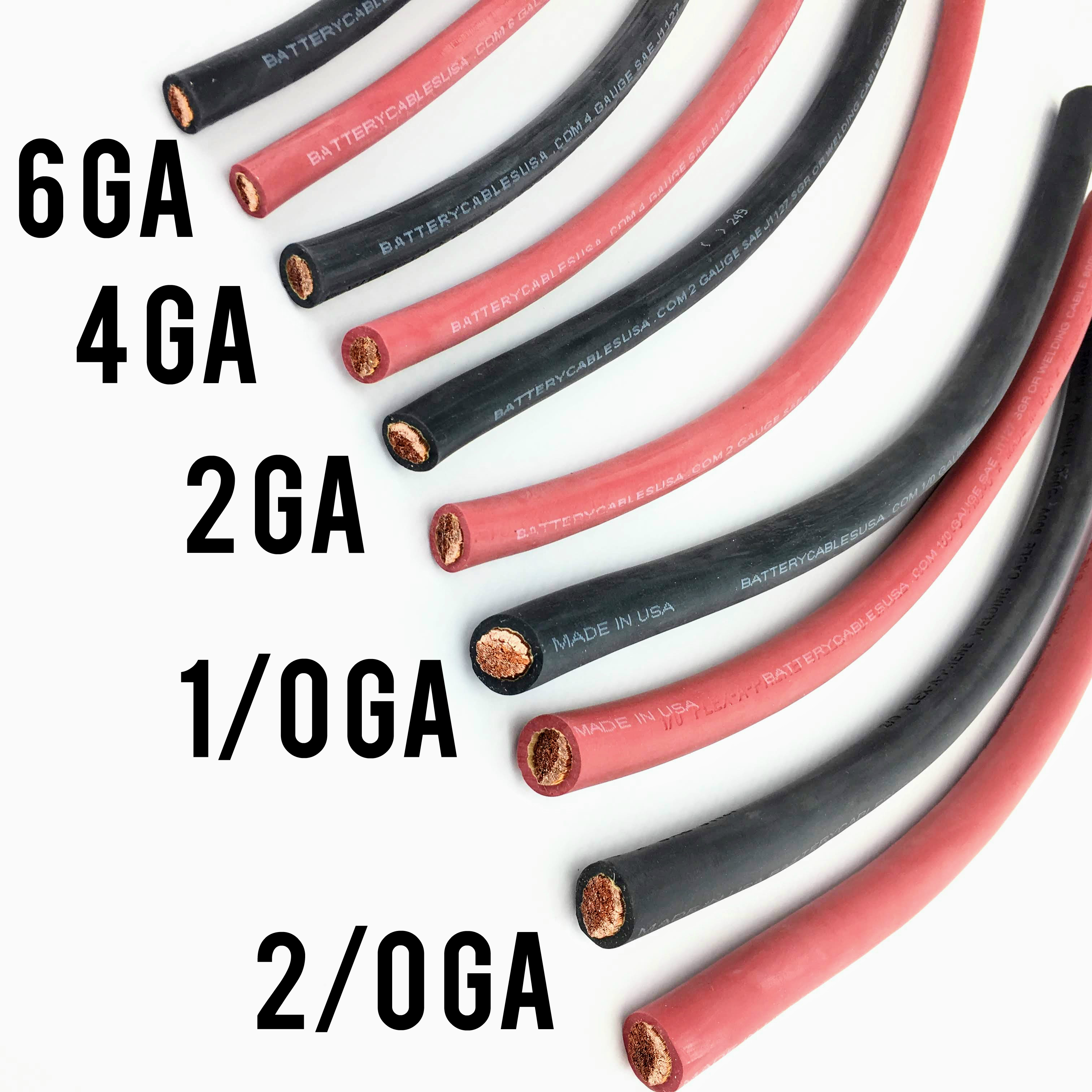 Welding Cable Flexible Rubber Sgr Battery Cable Sae J1127 100 Copper Usa Made