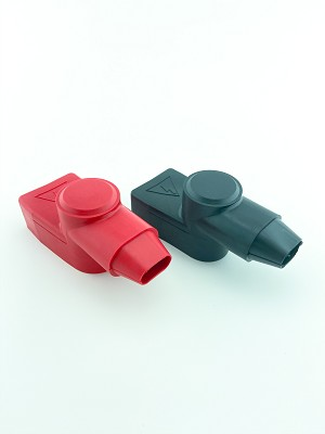Marine Battery Adapter Terminal Boot Covers Pair Top View