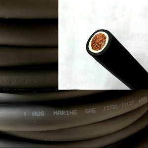 1 Gauge 1 AWG Battery Cable Black - By the Foot