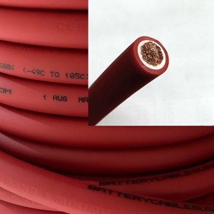 1 Gauge 1 AWG Battery Cable Red - By the Foot